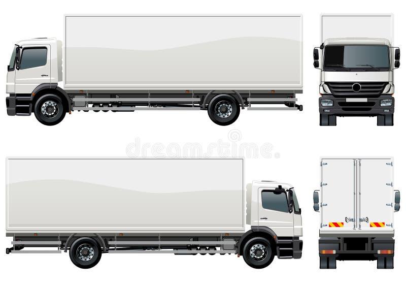 Salida del vector/carro del cargo ilustración del vector