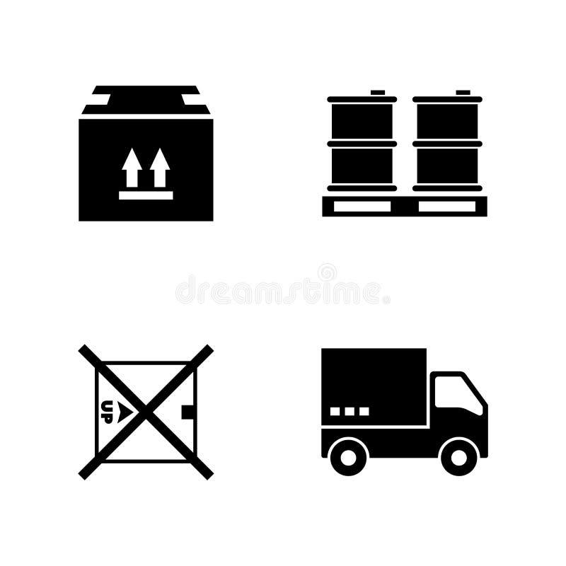 Salida expresa Iconos relacionados simples del vector stock de ilustración