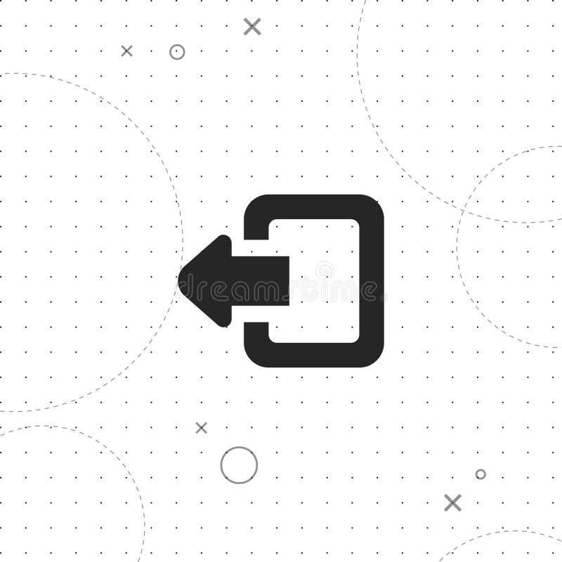 Salida, icono del vector de la salida del sistema stock de ilustración