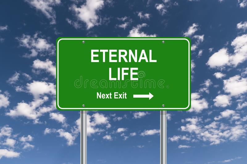Salida siguiente de la vida eterna stock de ilustración