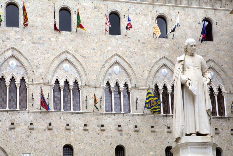 Salimbenivierkant, Siena, Toscanië Italië royalty-vrije stock foto's