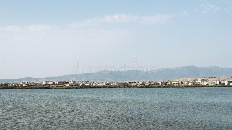 Salin (appartements de sel) à Cagliari photos stock