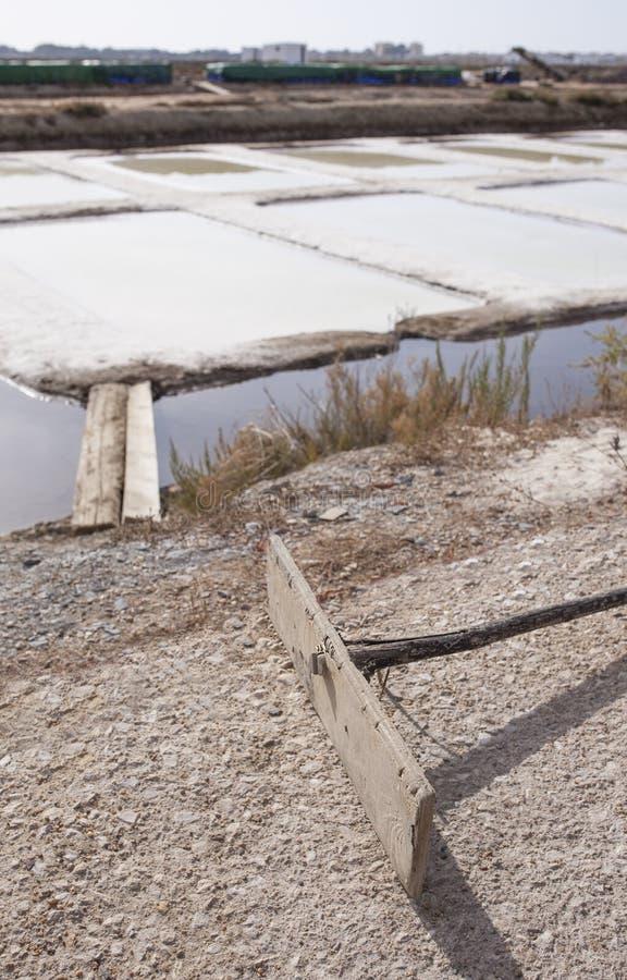 Salina de Isla Cristina, Huelva, España fotografía de archivo