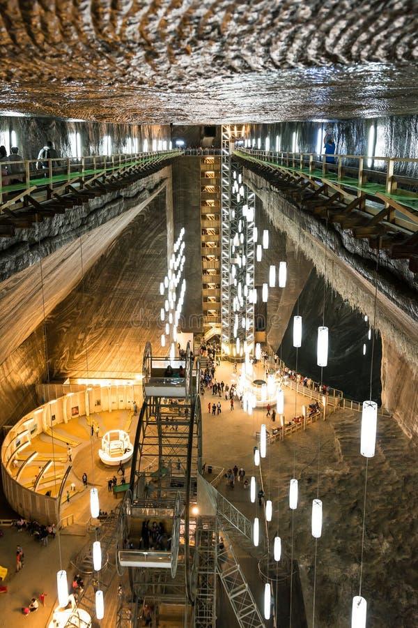 Salina Turda Salt Mine stockfotos