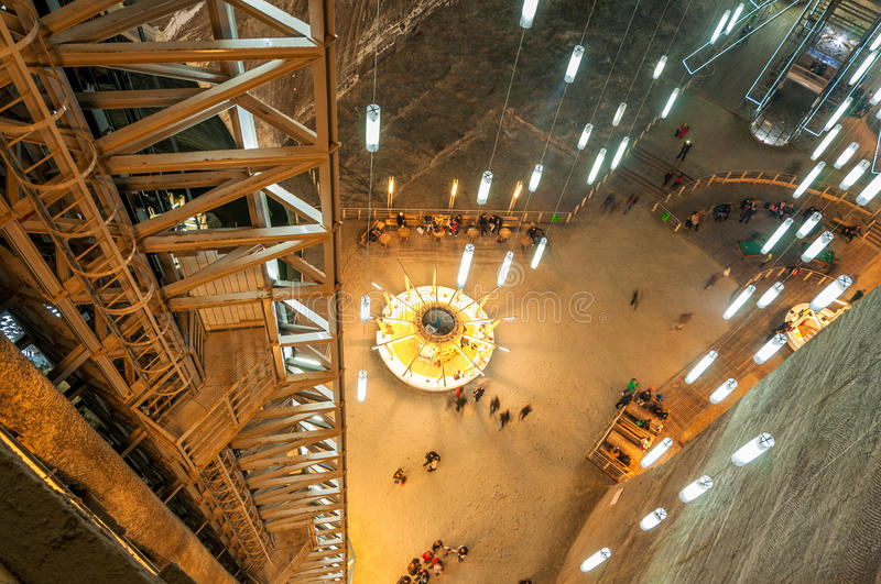 Salina Turda Salt Mine. TURDA, ROMANIA - 29 March 2015: Opened In 1992 Salina Turda is a salt mine located in Durgau-Valea Sarata area of Turda, second largest stock image