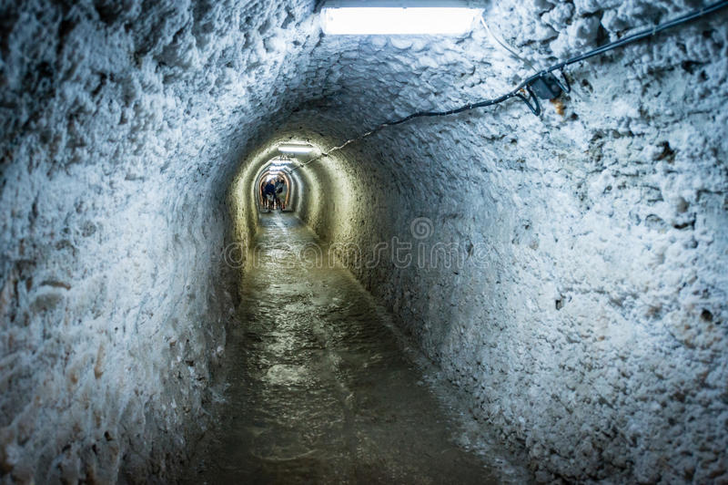 Salina Turda-Salzbergwerk in Rumänien lizenzfreies stockbild