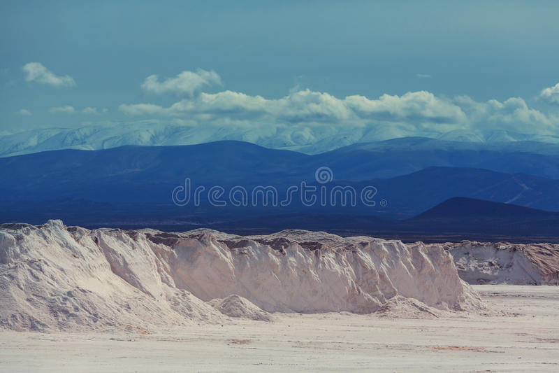 Salinas in Argentina stock photo