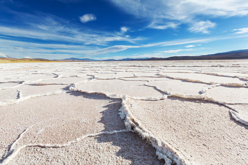Salinas in Argentina stock photography