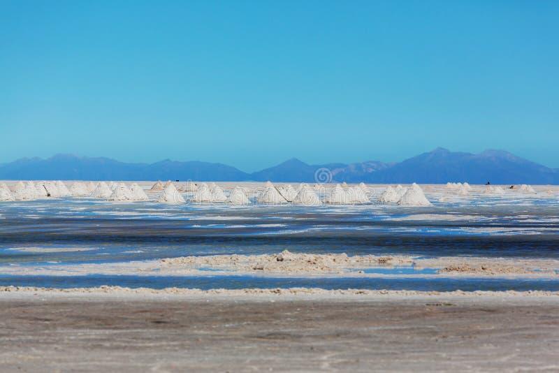 Salinas in Bolivia royalty free stock image