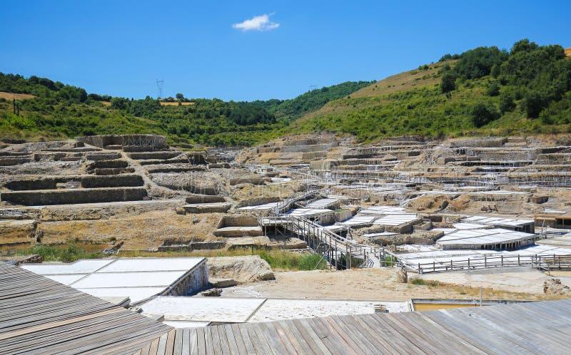 Salinas DE Anana in Baskisch Land, Spanje stock foto's