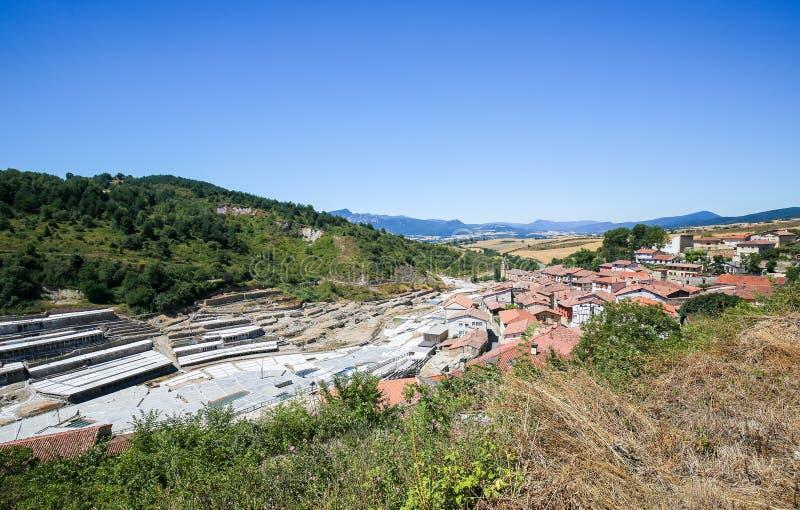 Salinas DE Anana in Baskisch Land, Spanje royalty-vrije stock foto