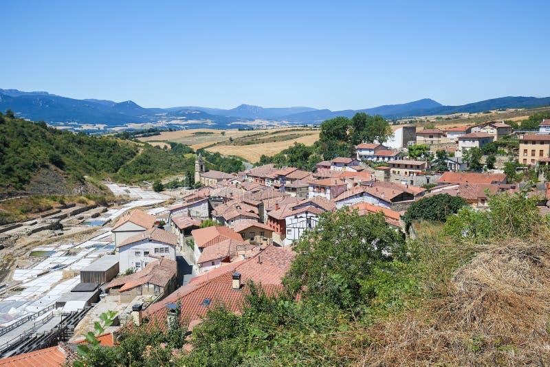 Salinas DE Anana in Baskisch Land, Spanje stock foto