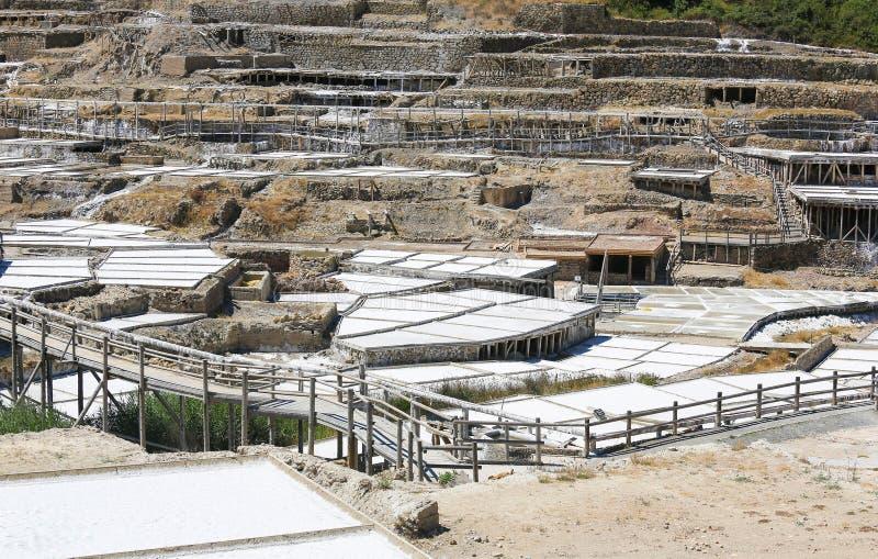 Salinas DE Anana in Baskisch Land, Spanje stock afbeelding
