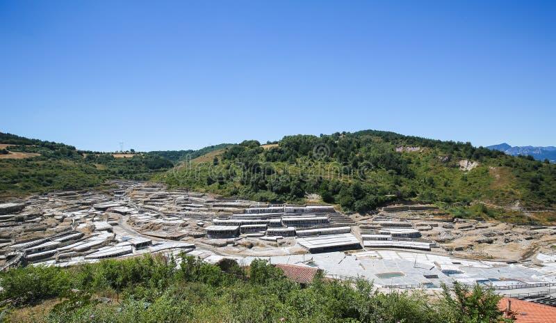 Salinas DE Anana in Baskisch Land, Spanje stock fotografie
