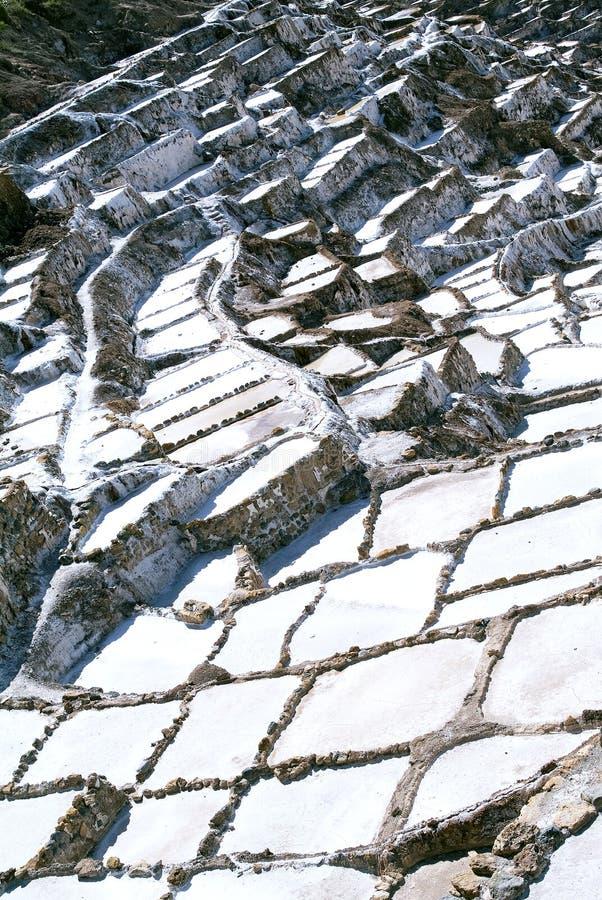 Salinas de Maras,秘鲁 免版税库存图片