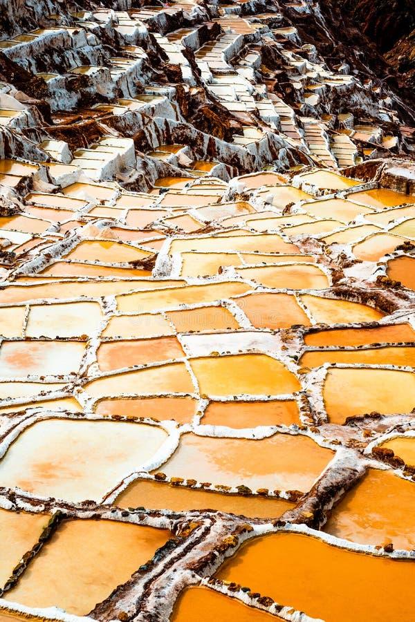 Salinas de Maras imagen de archivo libre de regalías