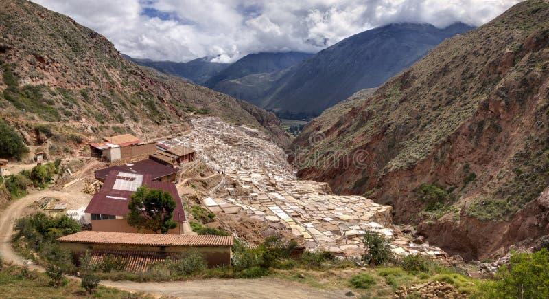 Salinas de Maras, salt evaporation ponds near the Sacred Valley and Cuzco in southern Peru royalty free stock photos