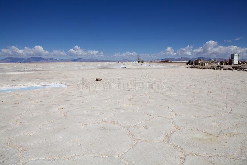Salinas Grandes in north west of Argentina in the provinces of Salta and Jujuy royalty free stock photos