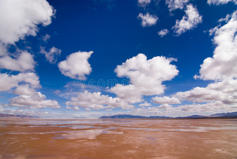 Salinas Grandes Salt Lake in Argentina stock image