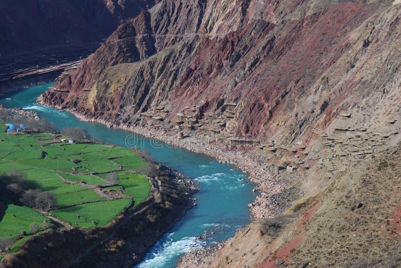 Salinas i Tibet fotografering för bildbyråer