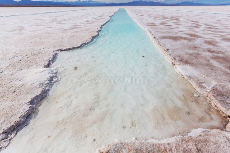 Saline in Argentina fotografia stock libera da diritti
