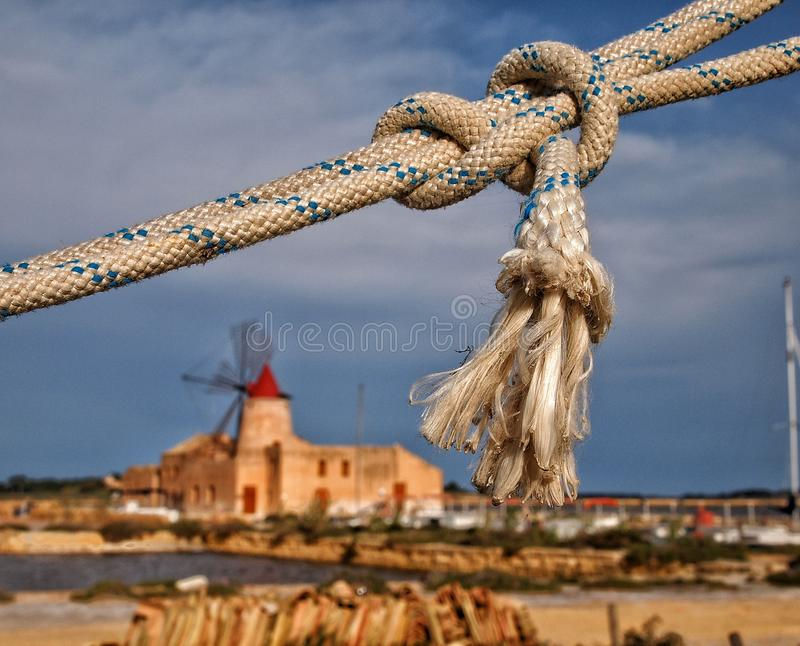 Saline di Marsala royalty free stock images