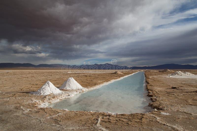 Saline Grandes Argentina fotografia stock libera da diritti