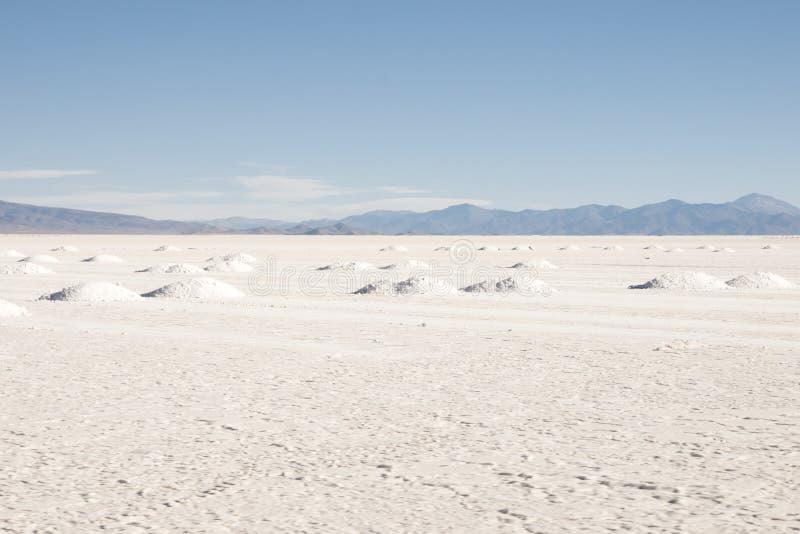 Saline Grandes - Jujuy - Argentina fotografie stock libere da diritti