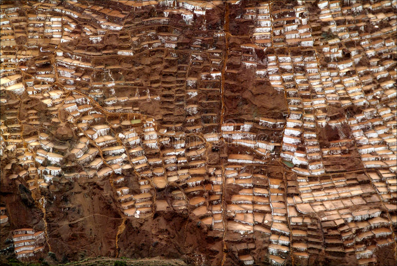 Salineras de Maras. lizenzfreie stockfotografie