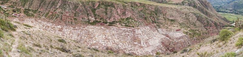 Salineras De Maras jest solankowym kopalnią blisko Cusco, Peru fotografia royalty free