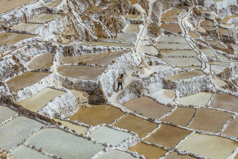 Salines au Pérou photo stock