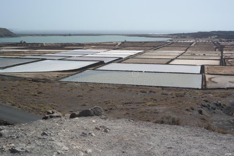 Salines del golfo del EL, Lanzarote, islas de Canaria imagen de archivo libre de regalías