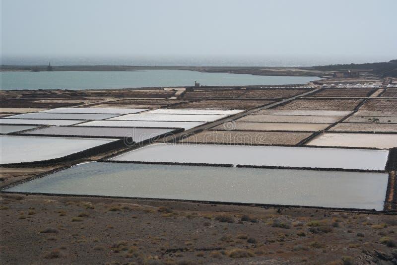 Salines del golfo del EL, Lanzarote, islas de Canaria fotos de archivo
