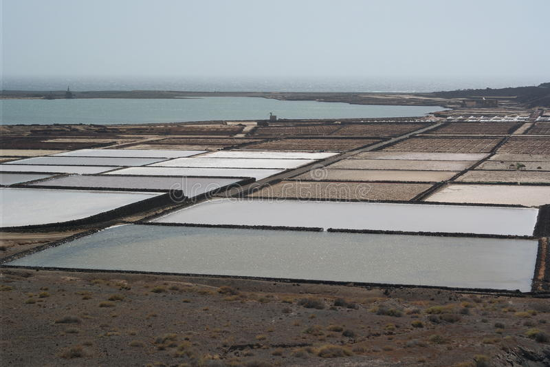 Salines golfo El, Лансароте, острова canaria стоковые фото
