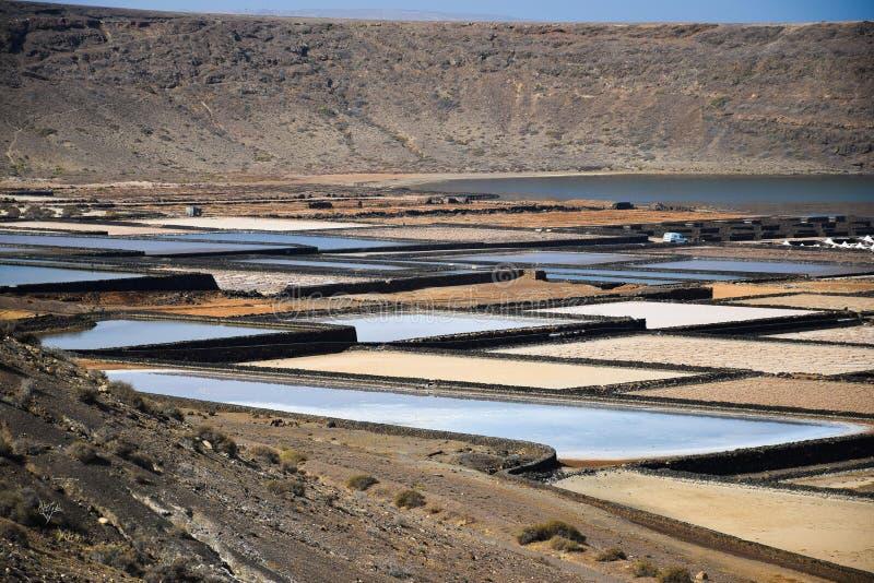 Salines in Lanzarote lizenzfreies stockfoto