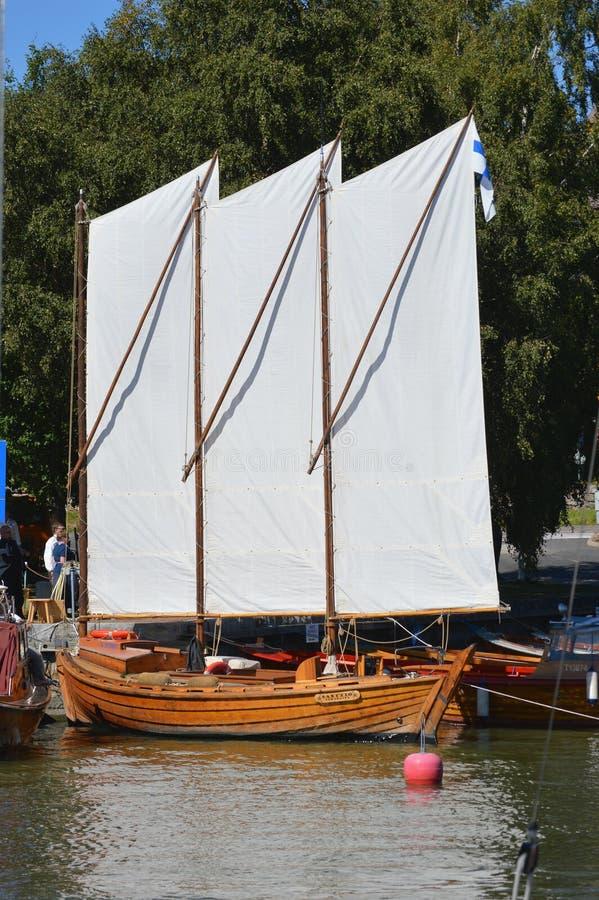 Saling łódź obrazy royalty free