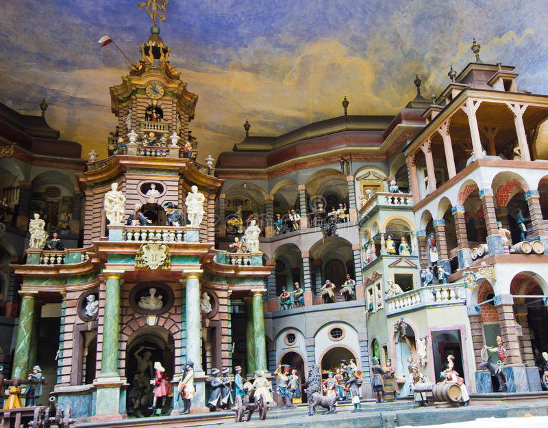 Salisburgo, Austria 16 settembre 2016: Palazzo di Hellbrunn - acqua po fotografia stock libera da diritti