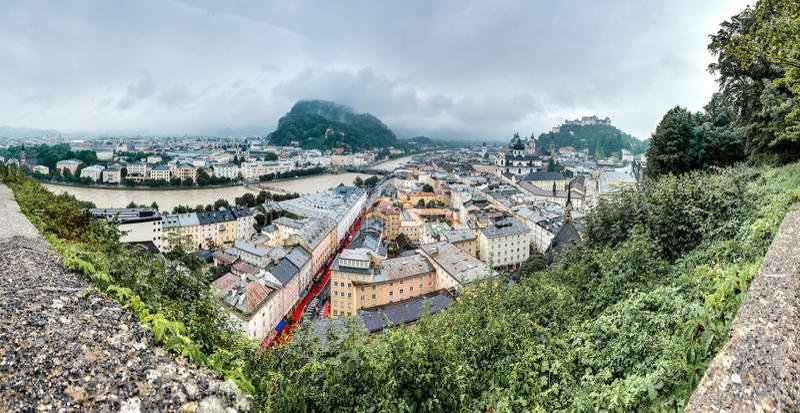Download Salisburgo Veduta Da Monchsberg, Austria Fotografia Editoriale - Immagine di architettura, gamma: 55350172