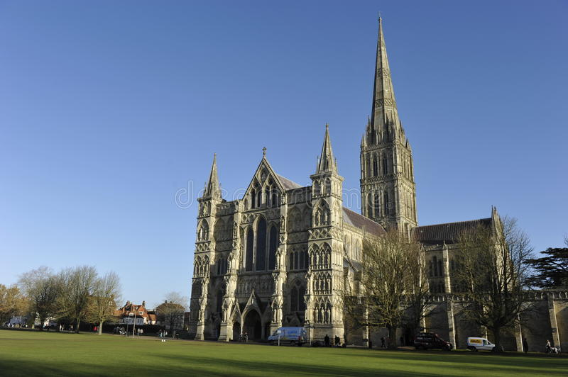 Download Salisbury Cathedral stock image. Image of anglican, church - 17495597