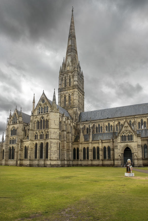 Salisbury Cathedral, anglican cathedral in Salisbury, England royalty free stock images