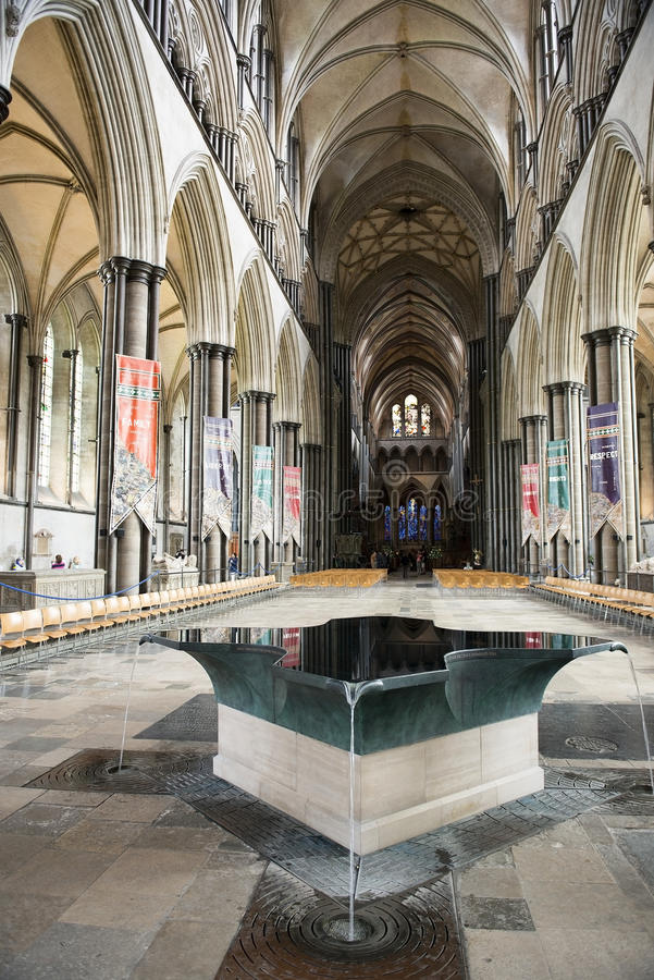 Salisbury Cathedral, anglican cathedral in Salisbury, England stock photo