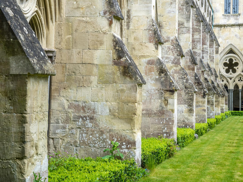 Salisbury cathedral cloister royalty free stock photography