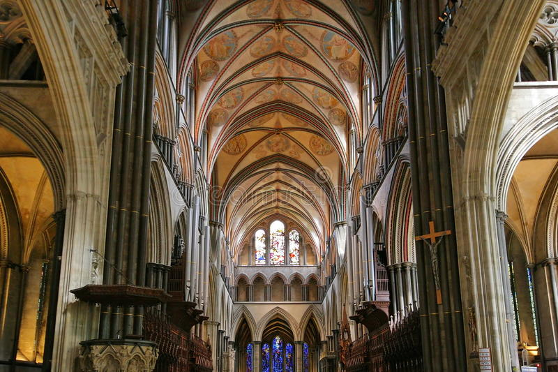 Salisbury cathedral interior stock image image of church for Catedral de durham interior