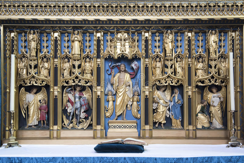 Salisbury Cathedral Side Altar royalty free stock image