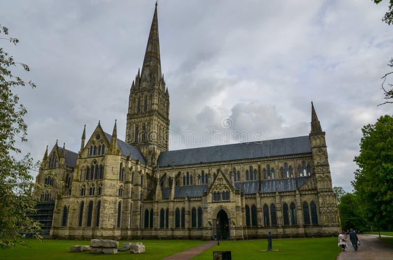 Salisbury Cathedral, Wiltshire stock image