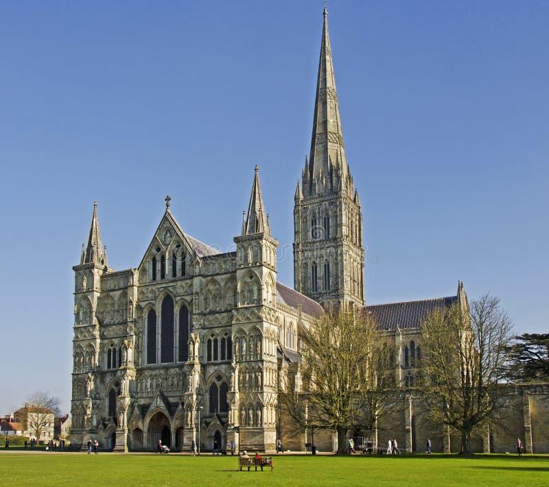 Salisbury domkyrka royaltyfria foton