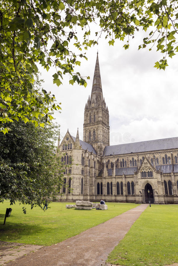 Salisbury domkyrka arkivbilder