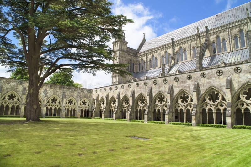 Salisbury domkyrka arkivfoton