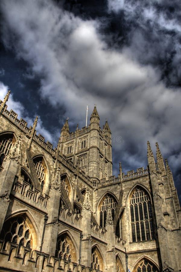 Salisbury domkyrka, England fotografering för bildbyråer