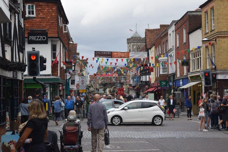 Salisbury. England Crossroad royalty free stock image
